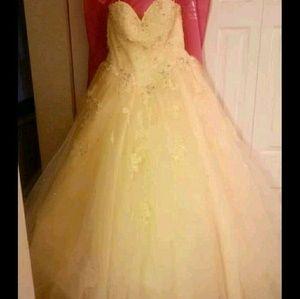 Mori Lee Sunshine Yellow Ballgown Prom Dress